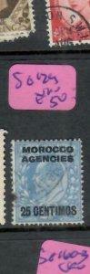 MOROCCO AGENCIES  (PP0109B) KE  25C/2 1/2D  SG 129    VFU