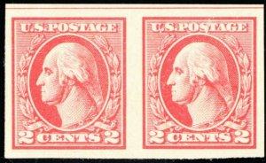 534, Mint NH Superb 2¢ Pair WoW - Stuart Katz