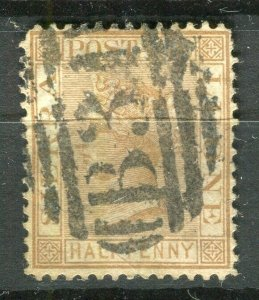 SIERRA LEONE; 1872 early classic QV Crown CC issue fine used 1/2d. value