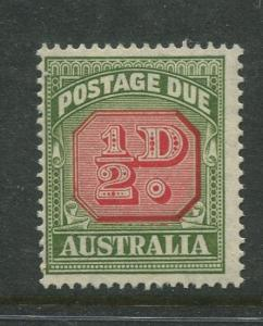 Australia - Scott J71 -Postage Due Issue -1956- Wmk 228 - MNH -Single 1/2d stamp