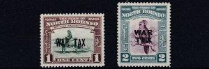 NORTH BORNEO  1941  S G 318 - 319  WAR TAX PAIR  MH