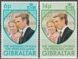 Gibraltar #305-6  MNH F-VF  (V45)