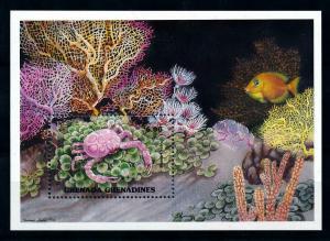 [99667] Grenada Grenadines 1990 Marine Life Sea Crab Fish Souvenir Sheet MNH