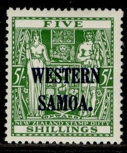 SAMOA GVI SG208, 5s green, M MINT. Cat £21.