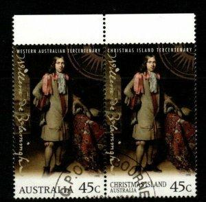 CHRISTMAS ISLAND SG433 1996 ANNIV OF WILLEM DE VIAMINGH'S DISCOVERY FINE USED