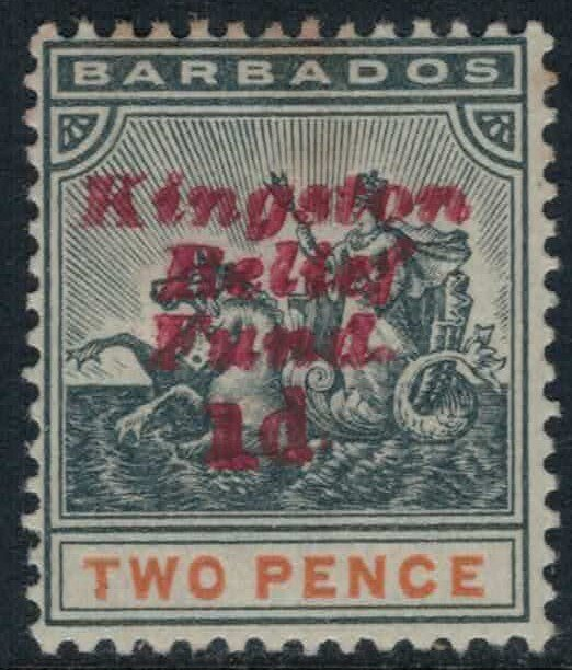 Barbados #B1*  CV $7.00