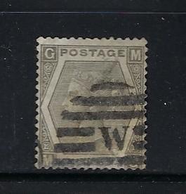GREAT BRITAIN SCOTT #60 (PLATE 12) - 1872-73 6P (GRAY) - WMK 25 - USED