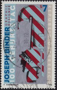 Austria - 1998 - Scott #1750 - used - Modern Art Binder
