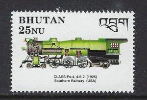 Bhutan 809 MNH 1990 Locomotive (ap6643)