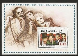Gambia #776 s/sheet F-VF Mint NH ** The Marx Brothers