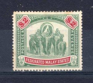 Malaysia -  Federated Malay States 1907 $2 MM