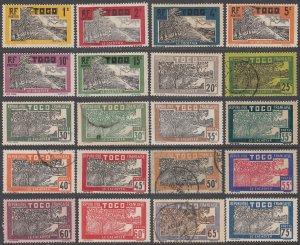 Togo 216-250 MH / Used Short Set (see Details) CV $40.00