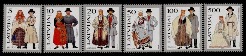 Latvia 343-8 MNH Traditional Costumes