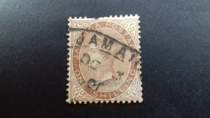 Jamaica Queen Victoria 1 shilling Used