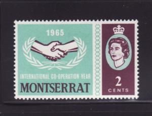Montserrat 176 MH International Coorperation Year