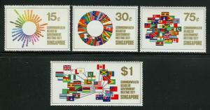 Singapore SC#129-32 1971 Commonwealth Heads Meeting MNH