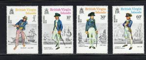 VIRGIN ISLANDS #237-240  1972 INTERPEX STAMP EXIBITION        MINT VF NH O.G