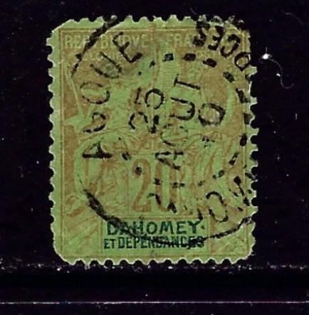 Dahomey 7 Used 1904 issue rounded corners nice cancel
