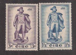 IRELAND SC# 155-6  FVF/MLH 1956