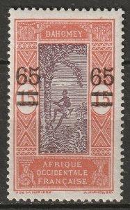 Dahomey 1925 Sc 88 MLH*