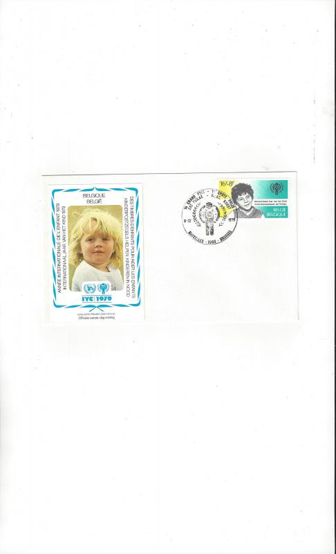 Belgium FDC 1979 International Year of the Child Official Cachet