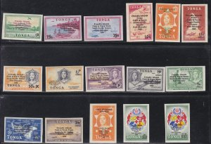 Tonga # 210-215, C47-54, CO19-20, South Pacific Games Surcharges, NH, 1/2 Cat.