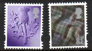 Great Britain Scotland Sc 31-2 2008 50p thistle & 81p tartan stamp set mint NH