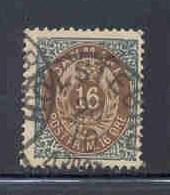 Denmark  Sc 30b 1875 16 ore slate & brown stamp invert frame