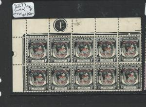 MALAYA JAPANESE OCCUPATION PENANG (P1301B) DN  SG J77 UL CONTROL BL OF 10   MNH