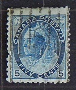 Canada, Queen Victoria, 5 cents, 1898-1902, SC #79, CV $138, (1951-T)