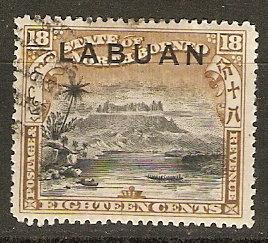 Labuan 86a SG 96 Used VF 1897 SCV $3.50
