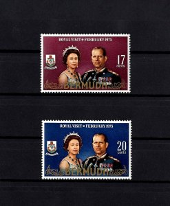 BERMUDA - 1975 - QE II - ROYAL VISIT - MINT - MNH - SET OF 2!