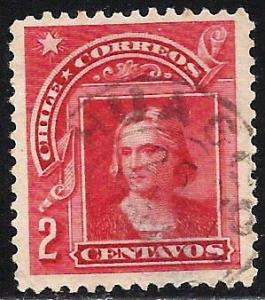 Chile 1905-1909 Scott# 69 Used THIN