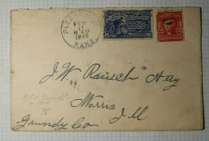 US Sc# E6a Used On Cover 1905 Special Delivery RPO Cancel K City KSCHI Liberty