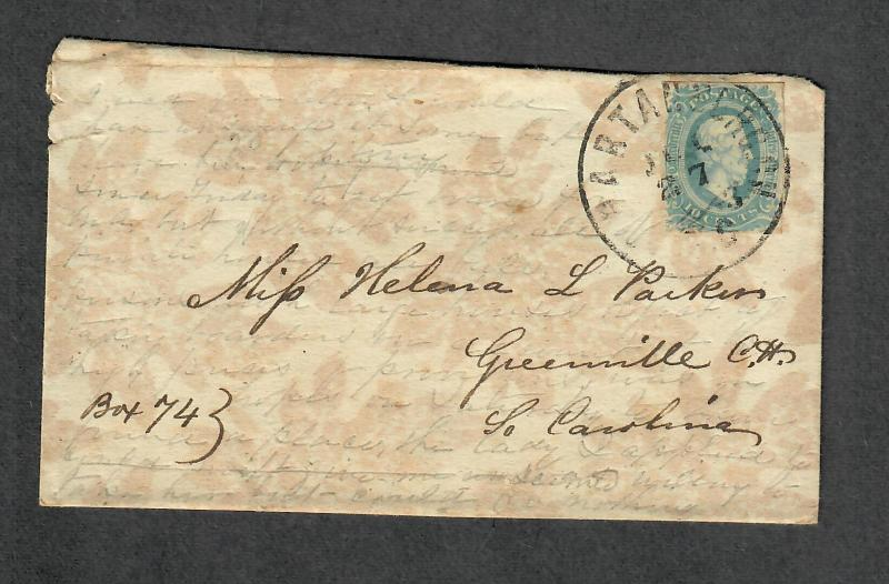 CSA Sc#11 Wallpaper Cover Spartanburgh S.C. Trabscribed Contents! 1863 Cover
