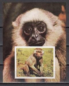 Sharjah MNH S/S 1017 Baboon Monkey 1972