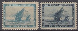 Argentina, Sc 90-91, MH, 1892, Discovery of America