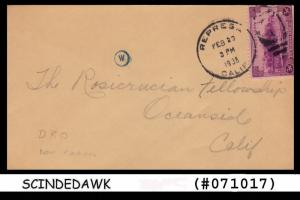UNITED STATES USA - 1938 ENVELOPE TO CALIFORNIA WITH STAMP