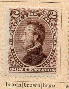 Honduras 1878-89 Early Issue Fine Mint Hinged 2c. NW-11867