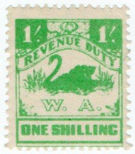 (I.B) Australia - Western Australia Revenue : Revenue Duty 1/-