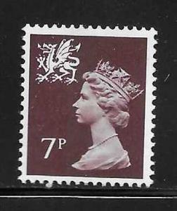 Great Britain Wales WMMH8 7p Machin MNH
