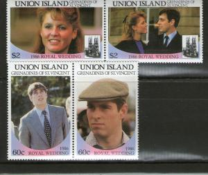 St. Vincent Grenadines - Union Island 228-229 MNH .