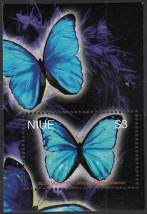 Niue 2004 MNH Sc #786 $3 Blue morpho butterfly