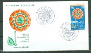 FRENCH POLYNESIA 1972  AIR   #C86...FDC