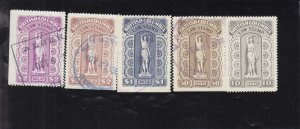Canada: British Columbia: Law Tax Stamp, Van Damme #BCL41-45, Used (37017)