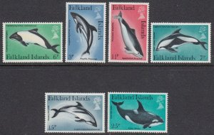 Falkland Islands 298-303 Whales mnh