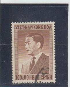 Vietnam  Scott#  50  Used  (1956 Pres. Ngo Dinh Diem)