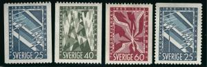 Sweden Vibrant & Attractive Sc #452-455 VF Mint  H  Cat $4.65