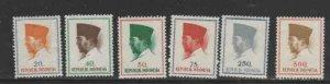 INDONESIA #616-625 1964 PRES. SUKARNO MINT VF NH O.G