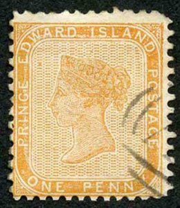 Prince Edward Is  SG10 1862-69 1d Orange-buff  Clear Profile Cat 70 pounds